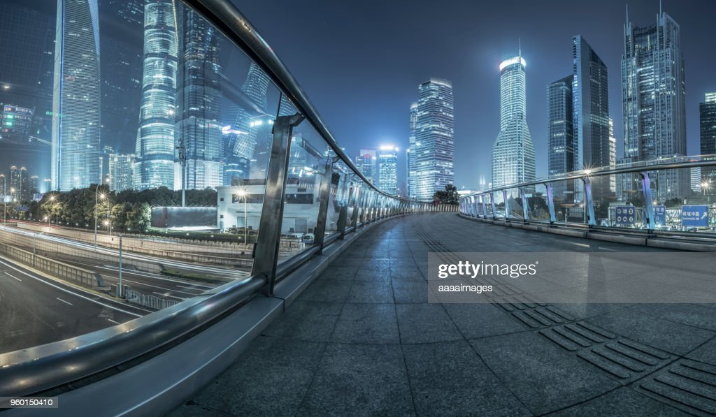 night cityscape of shanghai : Stock-Foto