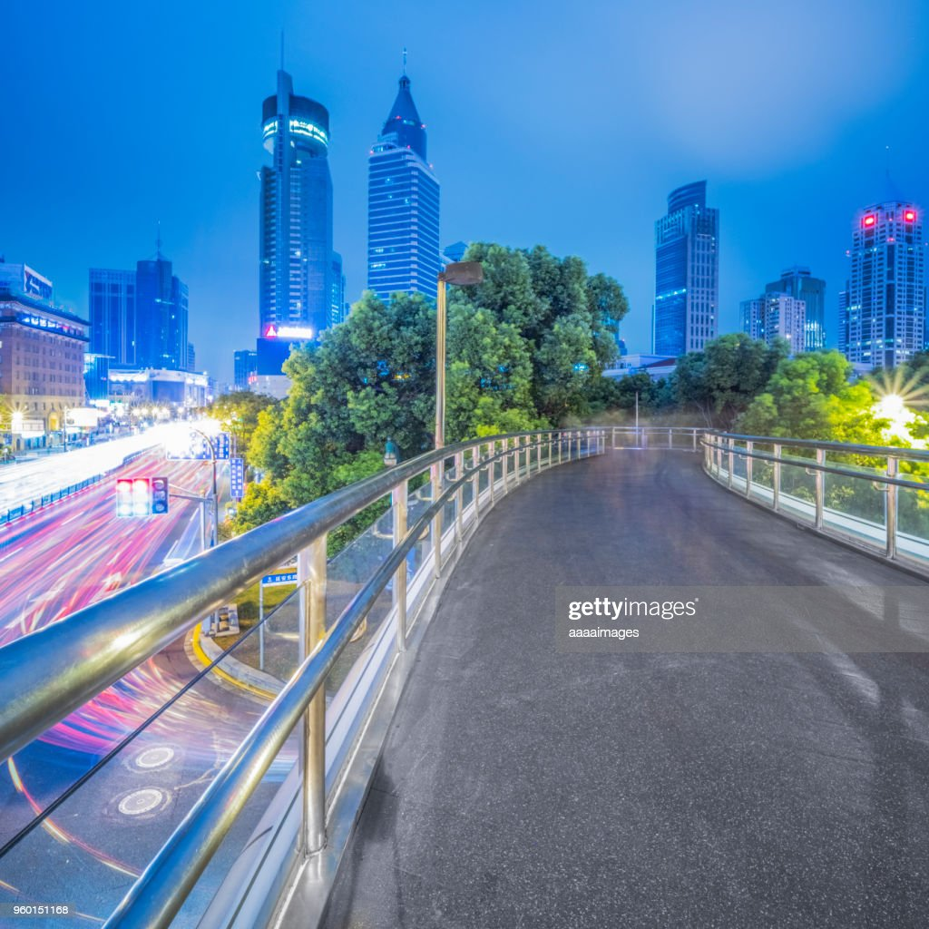 night cityscape of shanghai : Stock Photo