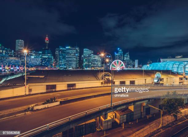 night cityscape of Sydney downtown