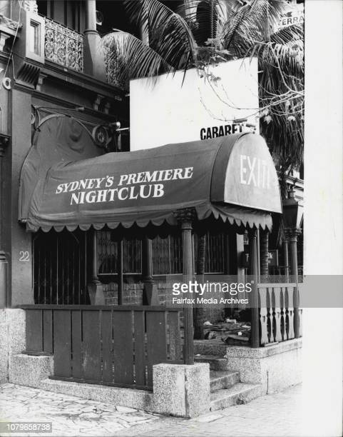 Night Club at 22 Bayswater Rd Kings Cross May 6 1983