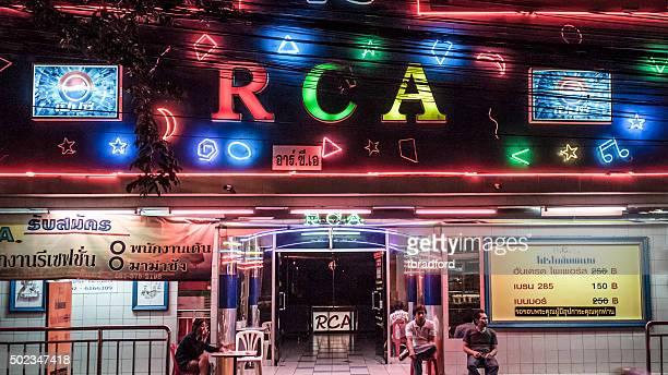 Night Club Illuminated At Night In Bangkok, Thailand