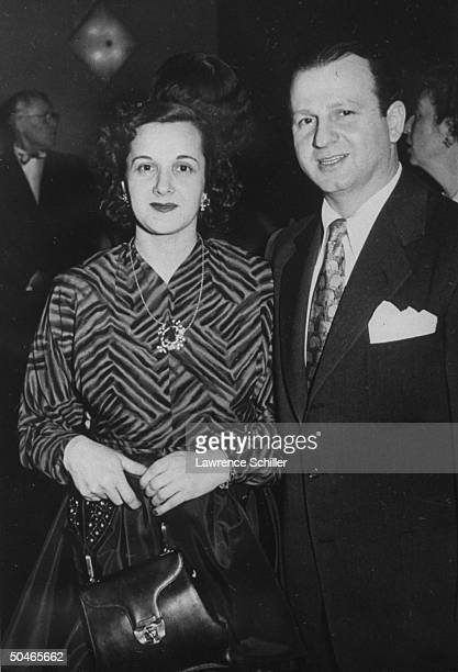 Night club owner Jack Ruby standing beside unident woman Ruby killed Pres Kennedy's assassin Lee Harvey Oswald