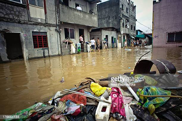 Night days and nights of continued heavy rains brought by the southwest monsoon caused serious floods to many parts of Manila, the capital of the...