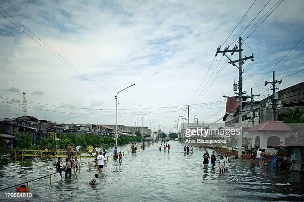 CONTENT] Night days and nights of continued heavy rains brought by the southwest monsoon caused serious floods to many parts of Manila the capital of...