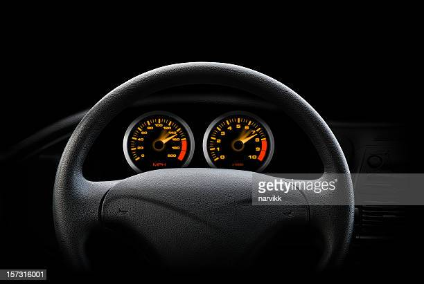 night drive - steering wheel stock pictures, royalty-free photos & images