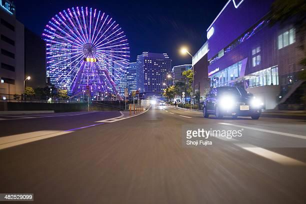 Night driving at Yokohama.