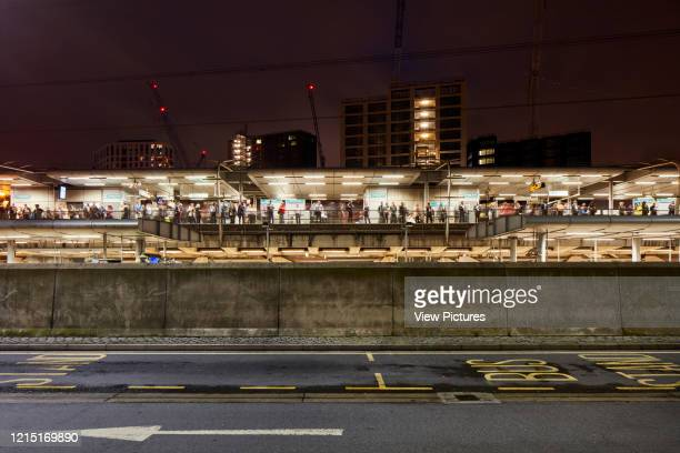 Night elevation towards Canning Town Underground Station Canning Town London United Kingdom Architect N/A 2017