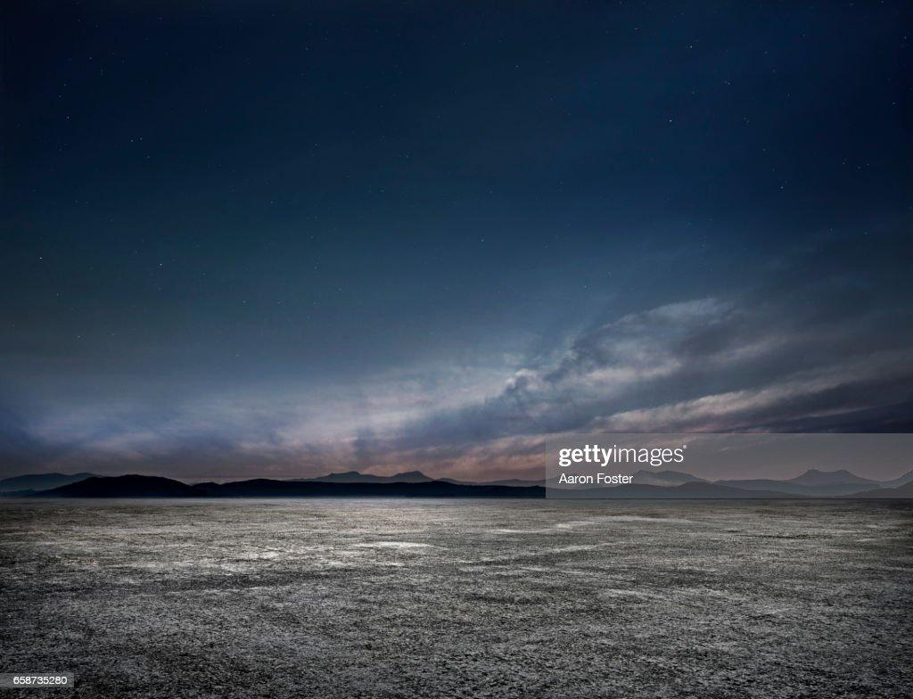 Night Empty parking lot : Foto stock