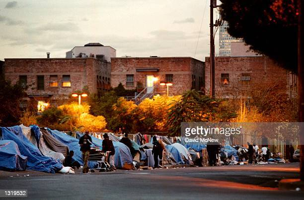 Night falls on a crack alley socalled for its 24hour drug trading especially in cheap crack cocaine December 11 2000 in Los Angeles CA Nonpaying...