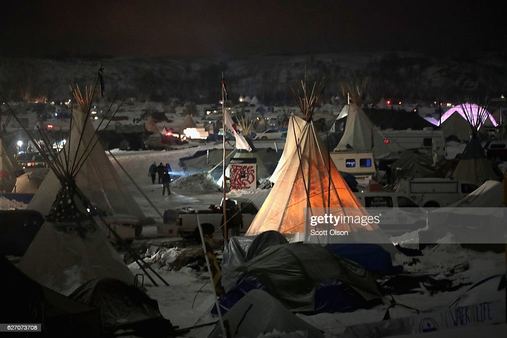 Protests Continue At Standing Rock Sioux Reservation Over Dakota Pipeline Access Project : News Photo