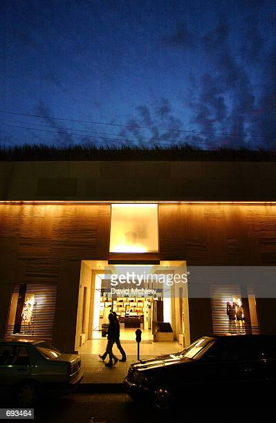 6a96b2152d0 Night falls on the Gucci store on Rodeo Drive January 12 in Beverly Hills  CA Gucci