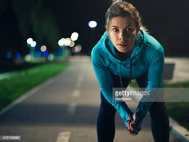 Night female runner