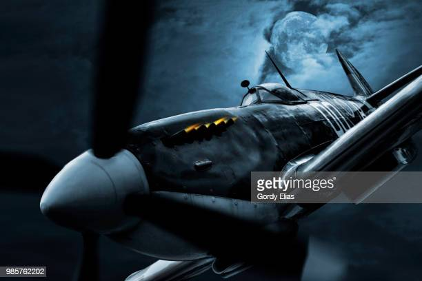 night fighter - spitfire - fotografias e filmes do acervo