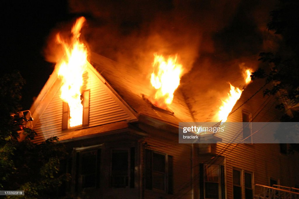 Night Fire : Stock Photo
