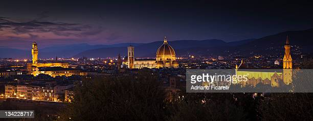 night firenze - adriano ficarelli stock-fotos und bilder