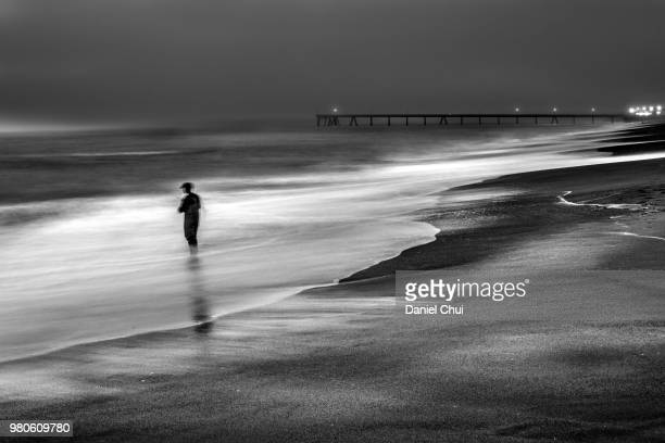Night Fisherman, Pacifica, California