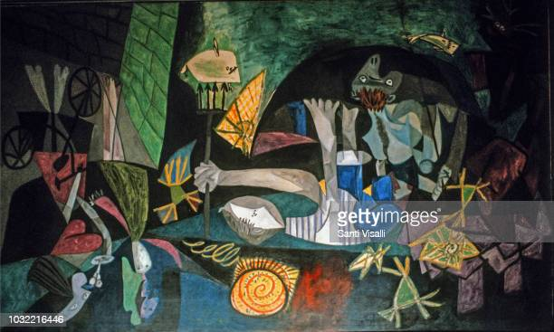 Night Fishing at Antibes by Picasso on March 30, 1990 in New York, New York.