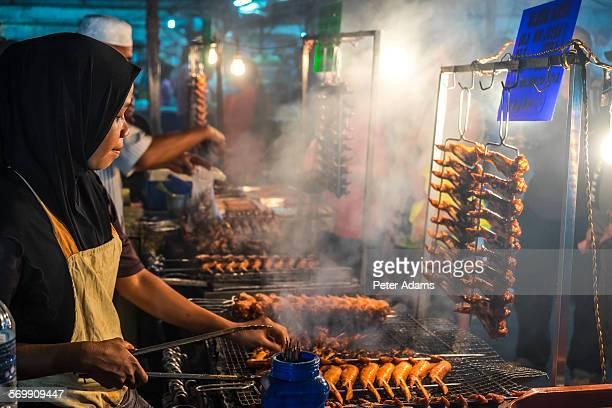 Night food market, Kota Kinabalu, Sabah, Borneo