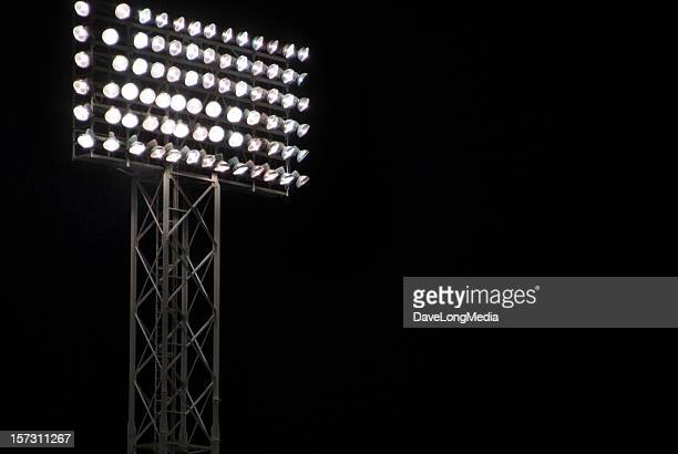 night game - stadium lights stock photos and pictures
