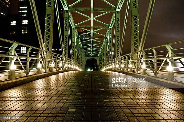 Night Green Bridge