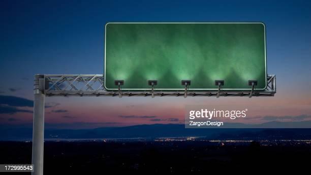 Noche highway señal