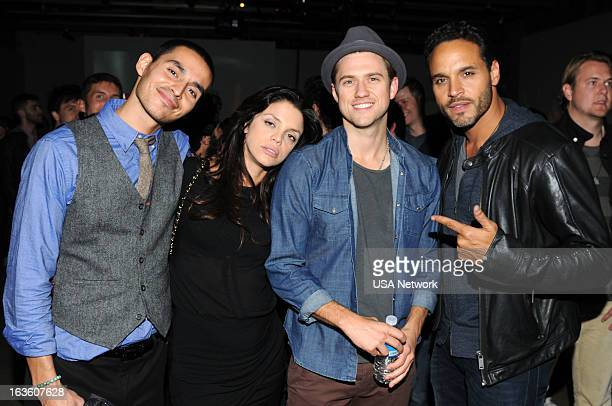 EVENTS SXSW @Night Hosted by USA Network's Graceland Austin TX on Monday March 11 2013 Pictured Manny Montana Vanessa Ferlito Aaron Tveit Daniel...