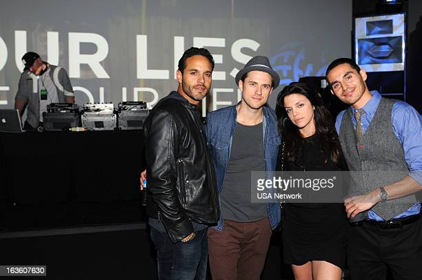EVENTS SXSW @Night Hosted by USA Network's Graceland Austin TX on Monday March 11 2013 Pictured Daniel Sunjata Aaron Tveit Vanessa Ferlito Manny...