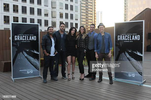 EVENTS SXSW @Night Hosted by USA Network's Graceland in Austin TX on Monday March 11 2013 Pictured Brandon Jay McLaren Daniel Sunjata Vanessa Ferlito...