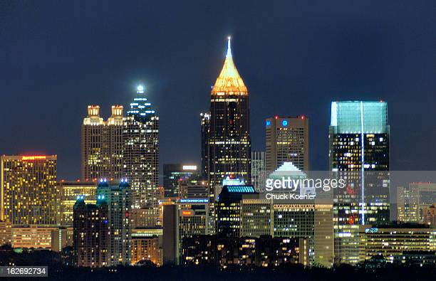 Night Image of the Atlanta Skyline taken from the Buckhead area.