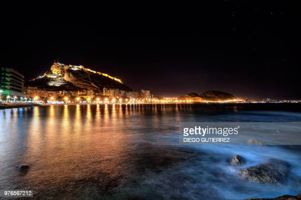 night in alicante - alicante stock pictures, royalty-free photos & images