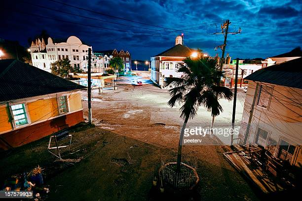 night in caribbean town