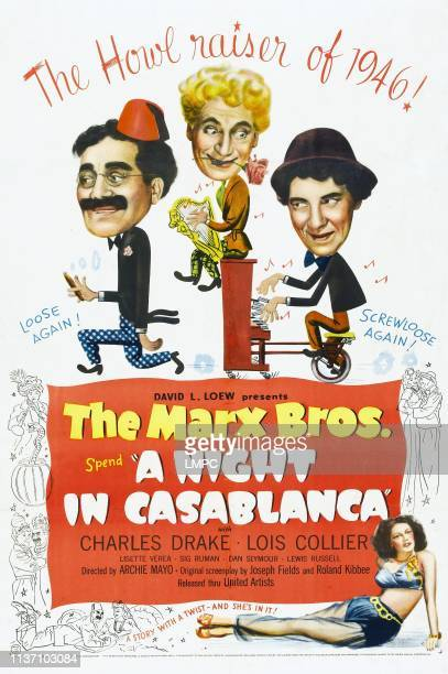 Night In Casablanca, poster, The Marx Brothers , 1946.