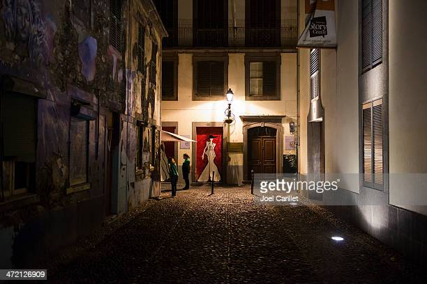 night in funchal, madeira - funchal stock pictures, royalty-free photos & images