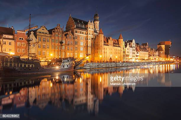 Night in Gdansk, Poland