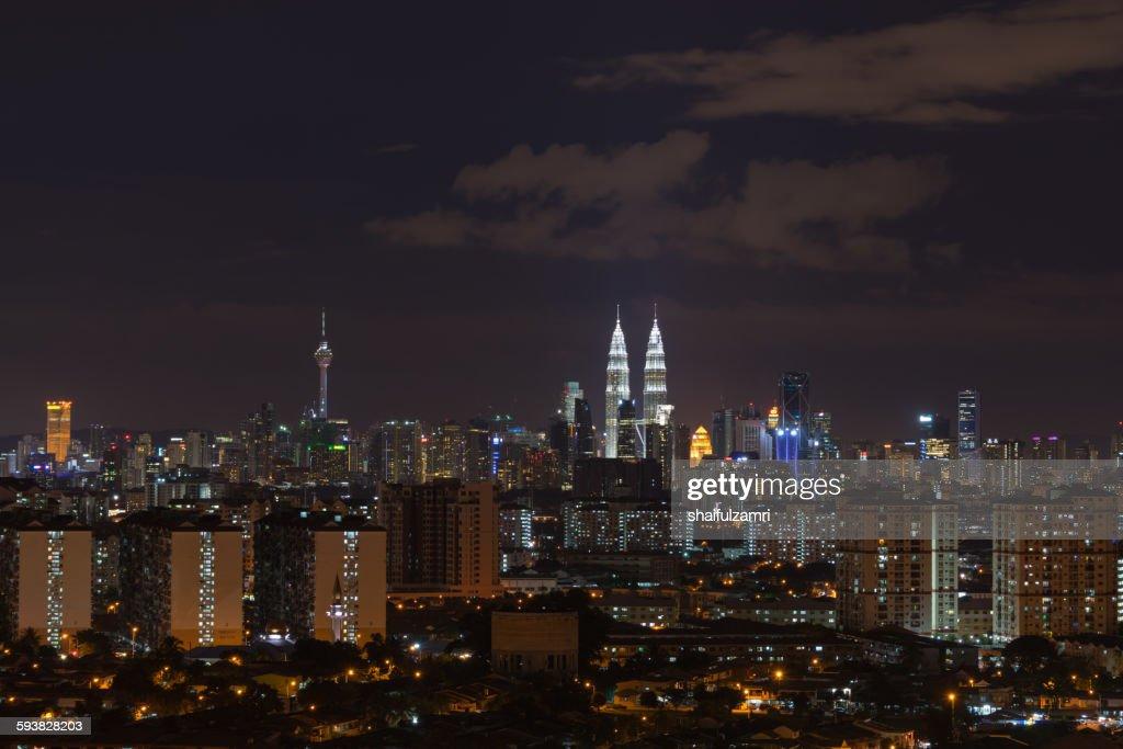 Night in Kuala Lumpur : Stock-Foto