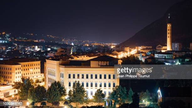 night in mostar, bosnia and herzegovina - former yugoslavia stock pictures, royalty-free photos & images