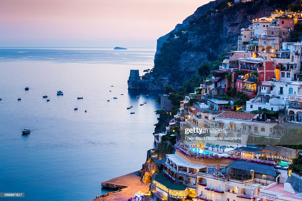 A night in Positano : Stock Photo