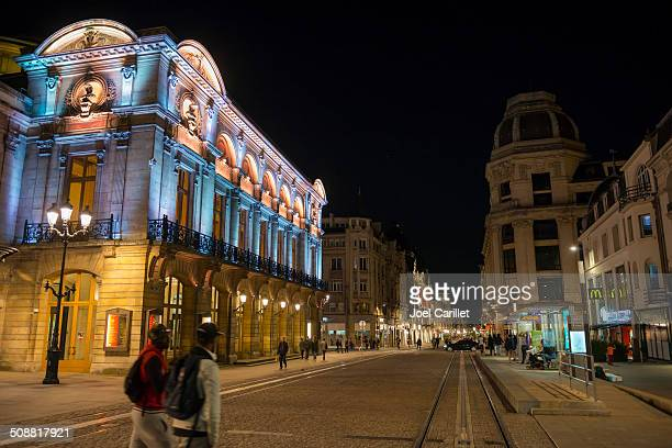 night in reims, france - reims stock pictures, royalty-free photos & images