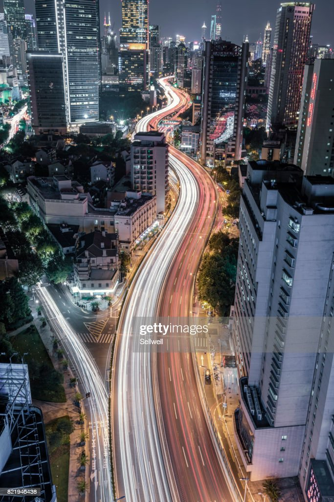Night in Shanghai : Stock Photo
