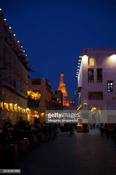Night in the cultural Old Town of Doha