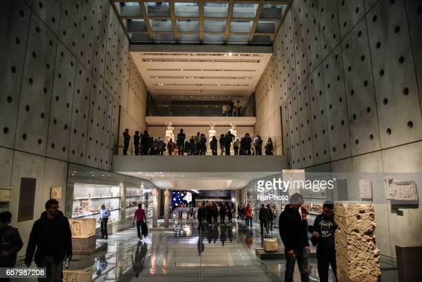 A night in the famous New Museum of the Acropolis of Athens in Athens on March 25 2017