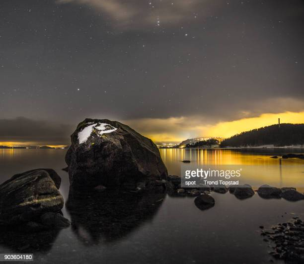 Night in the fjord