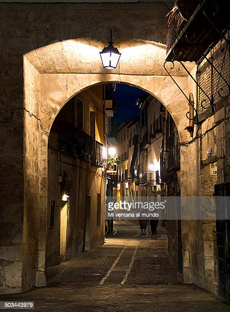 Night in the medieval village of Pastrana
