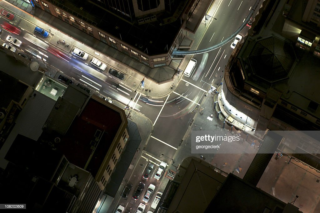 Night Junction Flow : Stock Photo