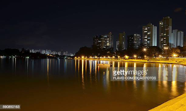Night lake Londrina city