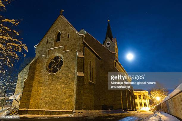 night landscape - germany , bayerischer wald , urban - wald stock pictures, royalty-free photos & images