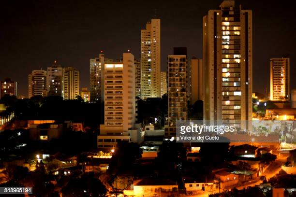 night landscape of cuiabá - cuiabá stock photos and pictures