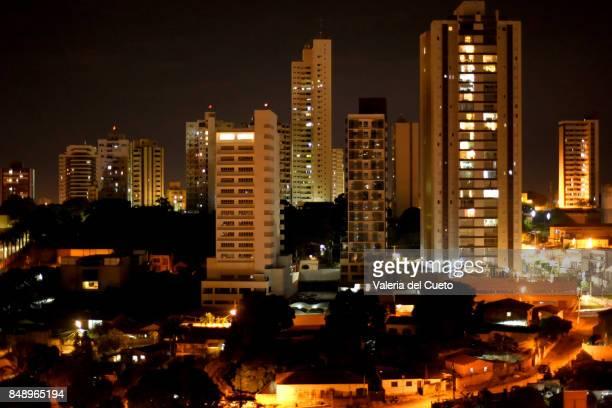 Night landscape of Cuiabá