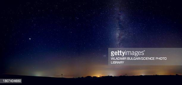 night landscape - galaxy stock pictures, royalty-free photos & images