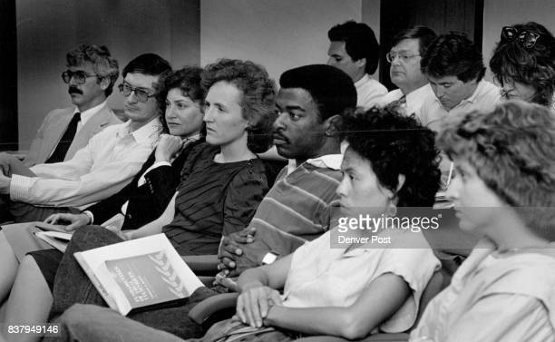 Night Law School Tom Tarnow's course is held in a model court room here they watch a video tape on how to be good at direct examination Credit The...
